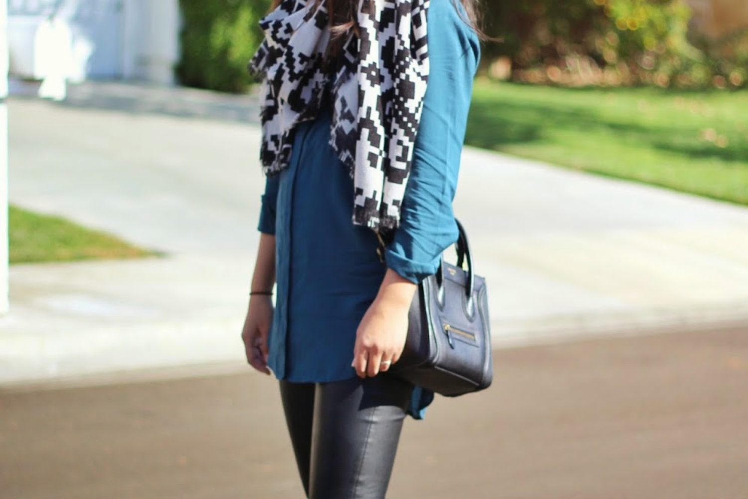 Fall Scarves and Vegan Leather