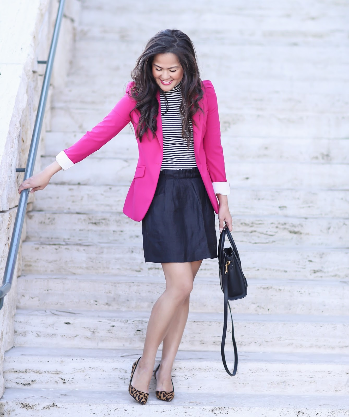 Work Wear: Mixing Prints & Pink