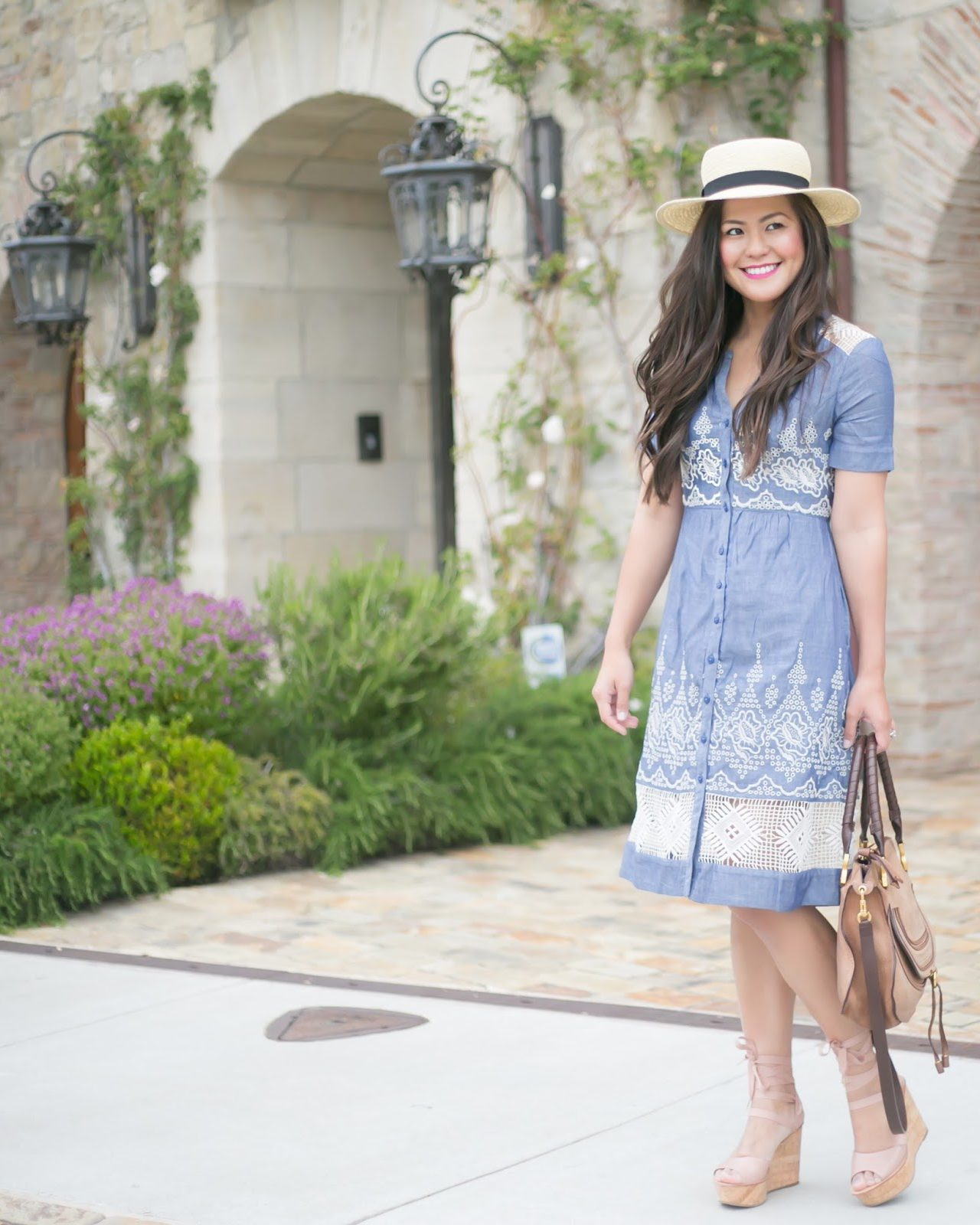 Blue Embroidered Dress + 5 Things to accomplish this Weekend
