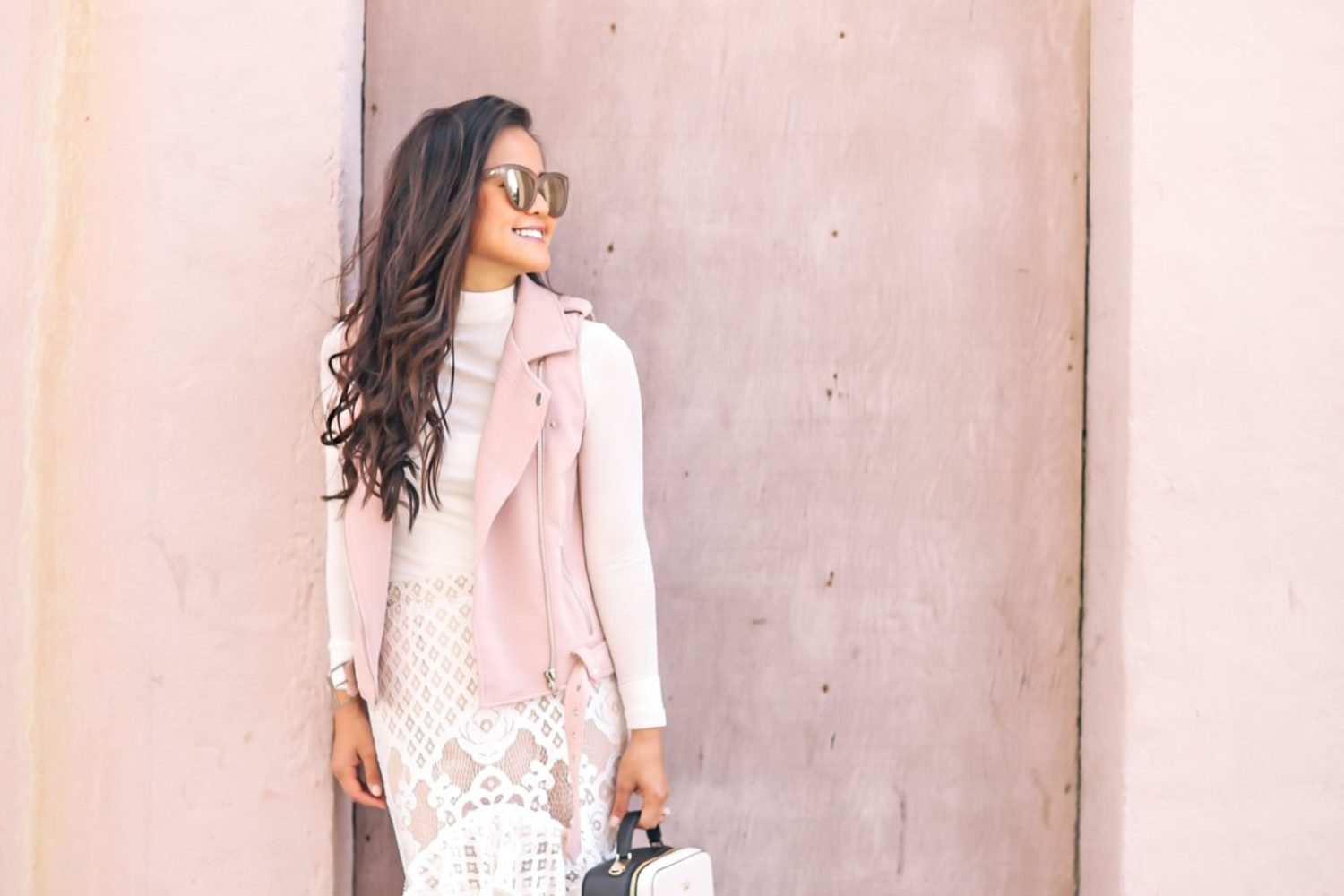 Blush Motos + Lace