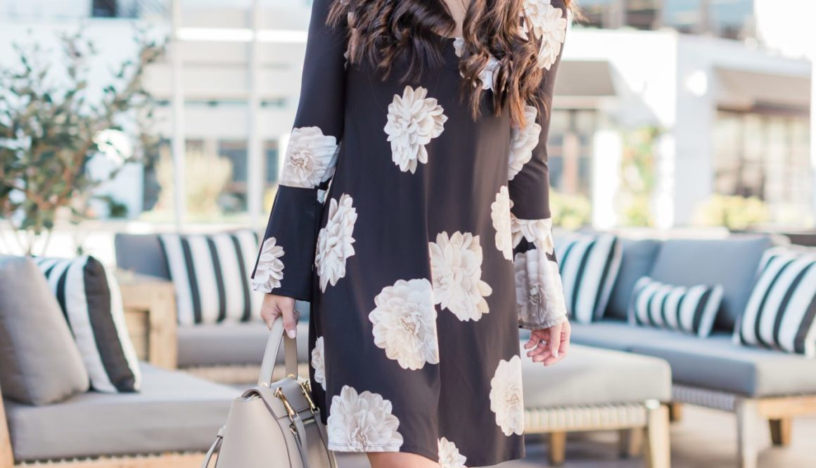 Dark Floral Dress - Jetting Jewels