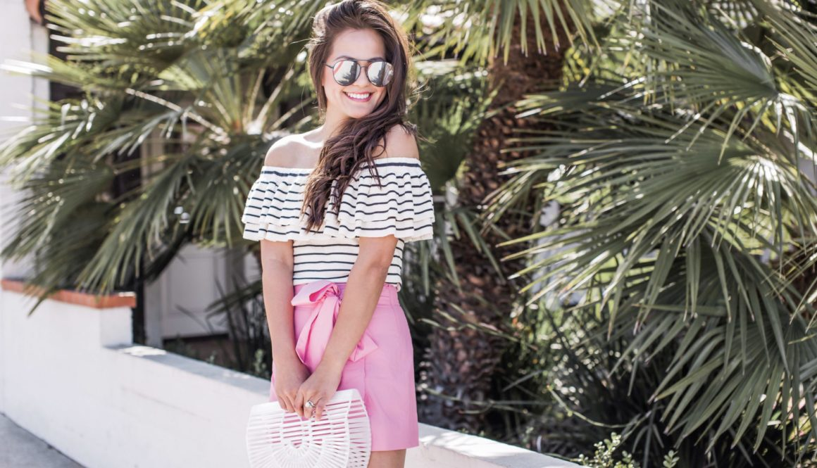 Pink Shorts & Stripes