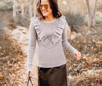 Grey Ruffle Sweater