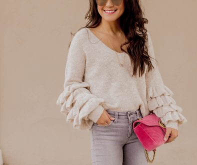 Big Ruffle Sleeves